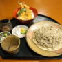 手打そば 満作@鳩山町で蕎麦「エビ天丼セット」