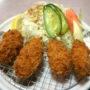 喜久家@ふじみ野市で「カキフライセット 蕎麦付」